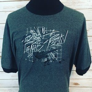 Vintage Rock This Town Iron-On On New T-Shirt NWT